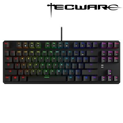 AU69.95 • Buy Tecware Phantom 87 RGB Wired Blue Switch Mechanical Gaming Keyboard