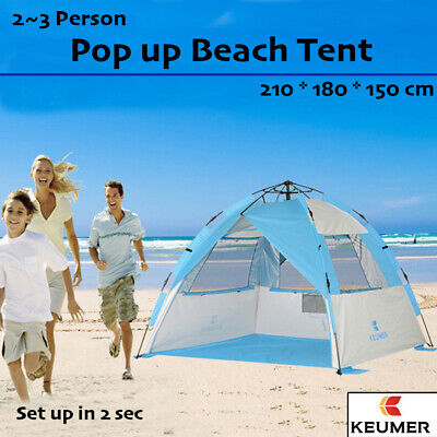 AU73.95 • Buy KEUMER Pop Up Portable Beach Tent Sun Shade Shelter Canopy Outdoor Camping