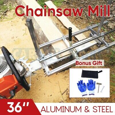 Portable Chainsaw Mill Suits Up To 36  Guide Bar Cutting Sawmill Aluminum Steel • 79.94£