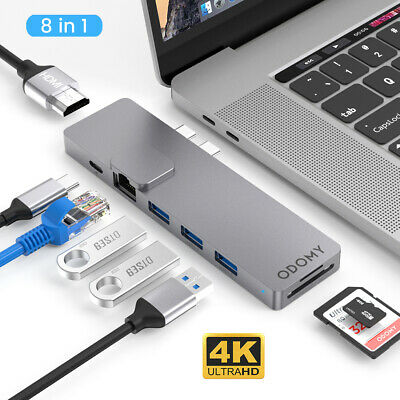 AU52.99 • Buy 8-in-1 Aluminum USB Type-C Port Pro Hub HDMI HD 4K SD/TF Adapter For MacBook Pro