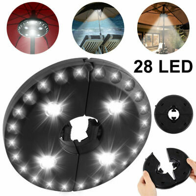 AU22.73 • Buy 28 LED Patio Umbrella Lights 3 Brightness Mode Yard Camping Lamps Outdoor