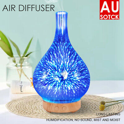 AU30.56 • Buy Firework Aromatherapy Diffuser 3D Aroma Essential Oils Ultrasonic Air Humidifier