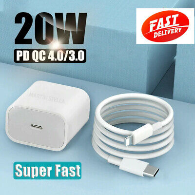 AU21.99 • Buy AU Plug PD 20W USB-C Type C Fast Wall Charger Adapter For IPhone XS/12 11 Max
