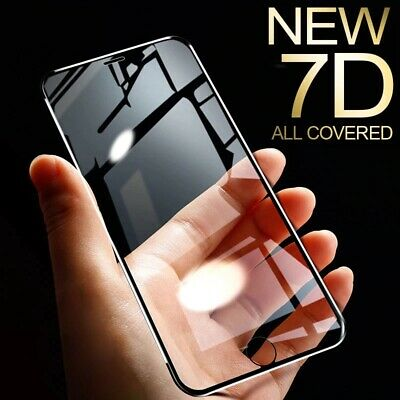 AU4.95 • Buy 7D Full Cover Tempered Glass Screen Protector IPhone 12 11 Pro Max XS Max XR SE