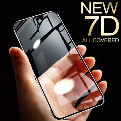 AU4.95 • Buy 7D Full Cover Tempered Glass Screen Protector IPhone 13/12 11 Pro Max XS XR Mini