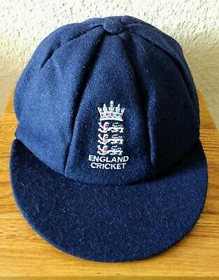 Trad. Style England Navy Blue Woollen Cricket Caps, @ Only £16.95p Each ! • 16.95£