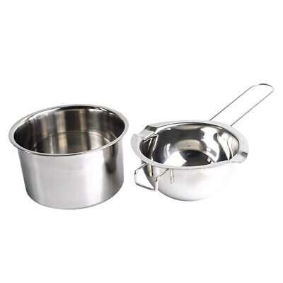 2x Metal Wax Melting Pot Double Boiler For DIY Resin Crafts Candle Soap Making • 10.13£
