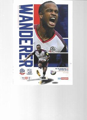PROGRAMME - BOLTON WANDERERS V SOUTHEND UNITED - 28 NOVEMBER 2020 • 2.50£
