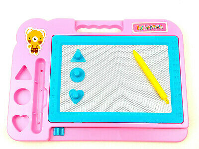 £3.99 • Buy New Magic Writer Magnetic Writing Pen Drawing Slate Board Doodle Pad Colour Kids