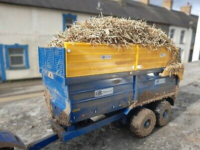 £40 • Buy Rare Britains Conversion Kane Silage Trailer Weathered +  Load For Tractor Siku