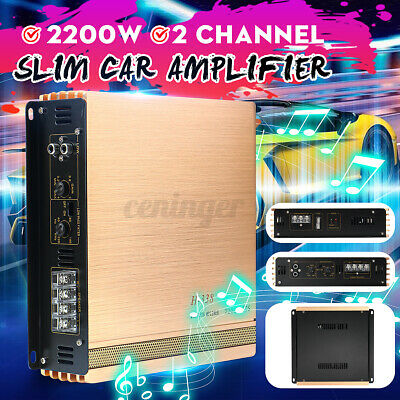 AU44.68 • Buy 2200W Car Amplifier 2 Channel DC 16V Power Amp Audio Bass Stereo Speaker  NEW