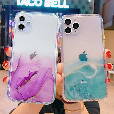 AU9.56 • Buy For IPhone 12 Pro Max 11 XS XR 8 7 Case Marble Bling Clear Shockproof Hard Cover
