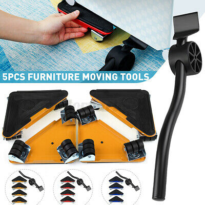 AU30.99 • Buy 5Pcs Furniture Lifter Slider Mover Home Moving Lifting System Heavy Duty Red