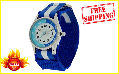 £13.99 • Buy Unisex Watch BLUE Time Teacher Tutor Kid Childrens Learn How To Tell The Time Uk