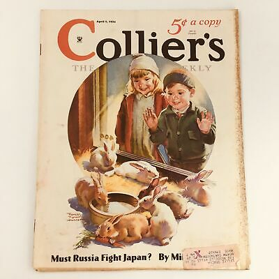 $ CDN24.18 • Buy VTG Collier's Magazine April 7 1934 Easter Bunnies By Francis Tipton Hunter