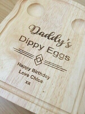 £13.50 • Buy Personalised Dippy Egg Breakfast Board For Daddy, Grandad, Uncle, Fathers Day