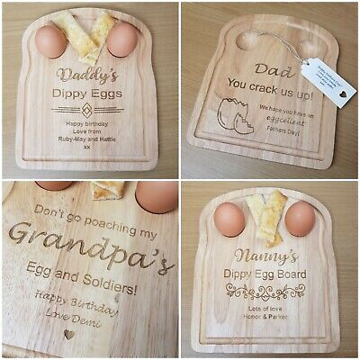 £13.50 • Buy Fathers Day Gift, Personalised Dippy Egg And Soldier Breakfast Board For Dad,