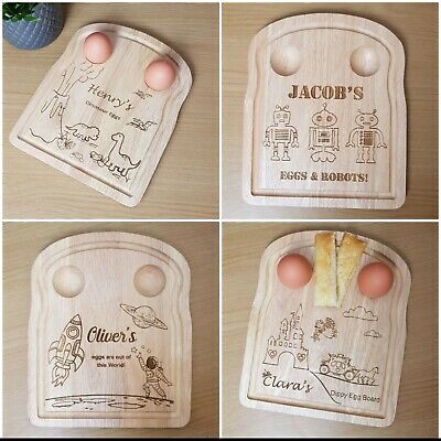£13.50 • Buy Easter Gift For Kids, Personalised Dippy Egg Board, Egg And Soldier Egg Cup