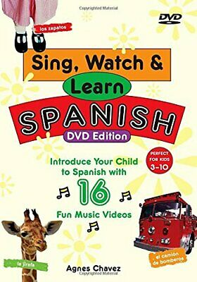 Sing, Watch And Learn Spanish (Book & DVD) By Chavez, Agnes Paperback Book The • 5.88£