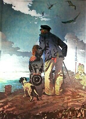 $ CDN43.80 • Buy Looking Out To Sea Norman Rockwell Foil Print Matted Nautical Ocean Sailboats