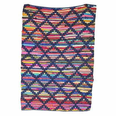 £29.99 • Buy Handmade Colourful Chindi Rag Rug Floor Area Woven Mat Cotton 4FT X 6FT X Large