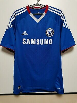 Size M Chelsea 2010-2011 Home Football Shirt Jersey • 40£