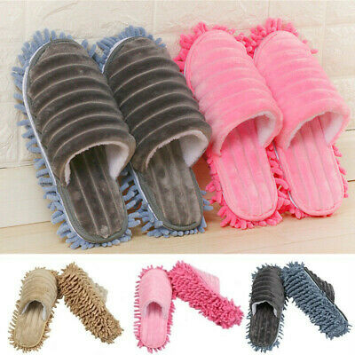 1 Pair Mop Slippers Lazy Floor Foot Socks Quick Dust Polishing Cleaning Shoes UK • 9.73£