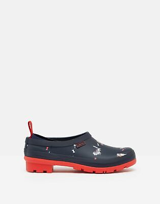 Joules Womens Slip On Welly Clogs - Navy Dogs • 25.16£