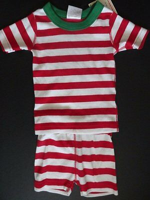 $14.99 • Buy NWT Hanna Andersson 80cm 18-24 Months Bold Striped Red Short John Pajamas Unisex