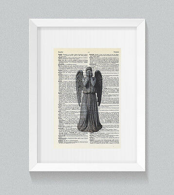 £5 • Buy Weeping Angel Dr Who Vintage Dictionary Book Print Wall Art