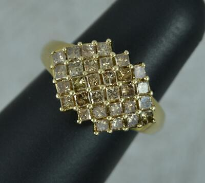 £325 • Buy 1.00 Carat Champagne Diamond 9ct Gold Cluster Ring