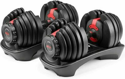 $ CDN761.21 • Buy BOWFLEX SelectTech 552 Two Adjustable Dumbbells (Pair) NEW SEALED 5 - 52.5lbs