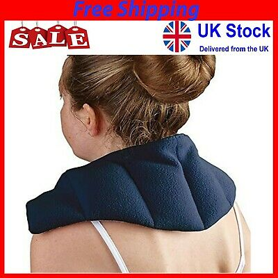 Heat Pad Therapy Neck Shoulder Back Thermal Microwaveable Bag Warmer Wheat Pain • 15.45£
