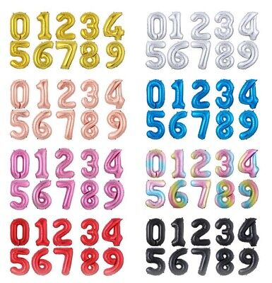 Giant Foil Number Balloons Letter Air Helium Birthday Age Party Wedding Fun 32  • 2.14£