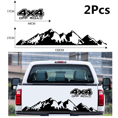 $17 • Buy 4X4 Off Road+Mountain Graphic PVC Stickers DIY Styling Accessories For Car Body