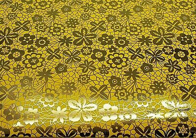 £2.25 • Buy Yellow Flowers Gift Wrap Wrapping Paper 2 Sheets 2 Tags Ditsy Mixed Gold Floral
