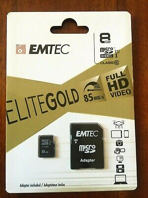 AU5.19 • Buy Brand New & Sealed  8GB  Micro SD Class 10  Memory Card,85 MB/S , FULL HD VIDEO
