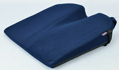 £42.95 • Buy The 8° Coccyx Seat Wedge Posture Positioner Cushion Velour Cover Blue