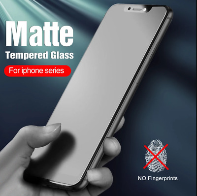 AU7.92 • Buy Matte Frosted Tempered Glass Screen Protector For IPhone 12 Pro Max 11 XR XS X 8
