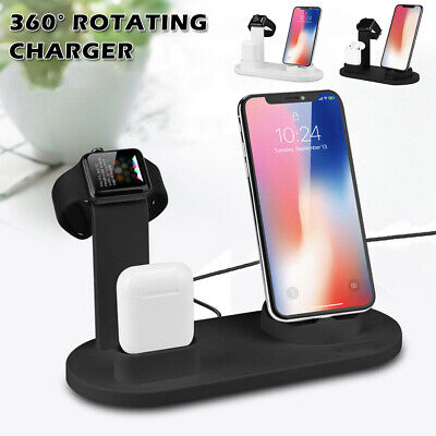 AU25.99 • Buy 3 In1 Charging Dock Station Charger Stand For AirPods Apple Watch Series/ IPhone