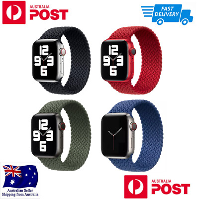 AU19.98 • Buy Nylon Braided Solo Loop Strap Band For Apple Watch Series 6 SE 5 4 32 42 40 44mm
