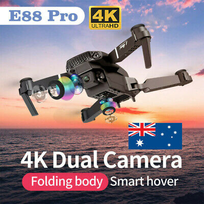 AU78.98 • Buy E88 Pro WIFI FPV Quadcopter Fordable HD 4K Wide Angle W/Dual Camera Drone RC