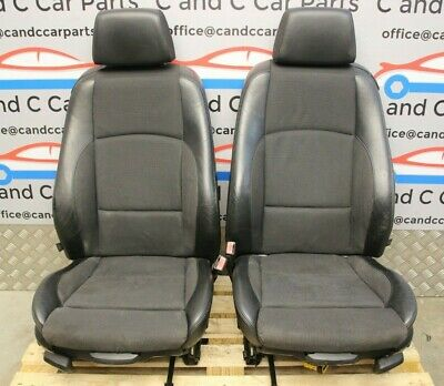 £200 • Buy BMW E92 Front Seat Pair Heated M Sport Half Leather / Cloth Black 17/12