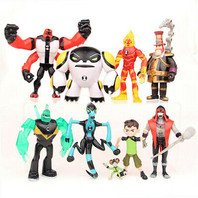 Ben 10 Action Figures Toy 9 PCS Set: Tennyson Four Arms Heatblast Cake Toppers • 16.99£