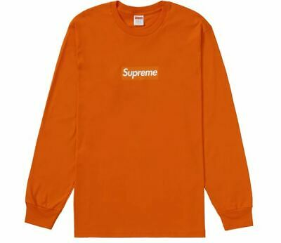 $ CDN286.21 • Buy Supreme Box Logo L/S Tee Orange  Sz M FW020  NEW / DS  W Sticker  Bogo T WoWza!!