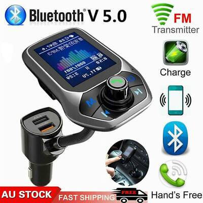 AU17.05 • Buy Car MP3 Music Player Bluetooth 5.0 Receiver FM Transmitter Dual USB Charger AU