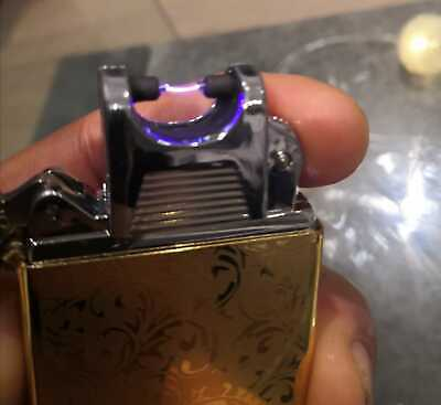 Electric ARC Cigarette Lighter Rechargeable USB Windproof Flameless Plasma  • 8.30£