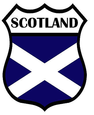 2 X Scotland Shield Flag Decal Car Motorbike Laptop Window Stickers Saltire Navy • 2.99£