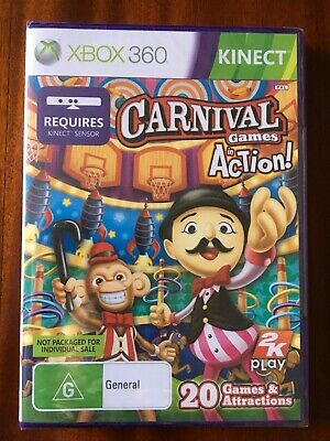 AU4.99 • Buy Carnival Games In Action - Xbox 360 -    (AU SELLER,FREE POSTAGE)