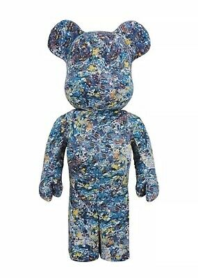 $2000 • Buy Medicom Bearbrick 2016 Jackson Pollock Studio Flocky Version 1000% Be@rbrick NEW